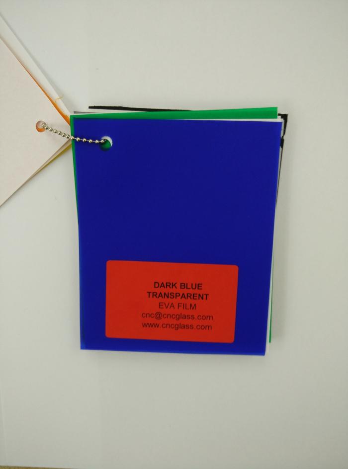 Dark Blue EVAVISION transparent EVA interlayer film for laminated safety glass (42)