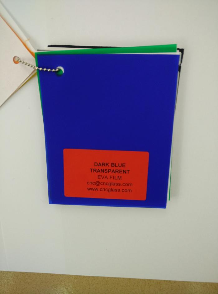 Dark Blue EVAVISION transparent EVA interlayer film for laminated safety glass (43)