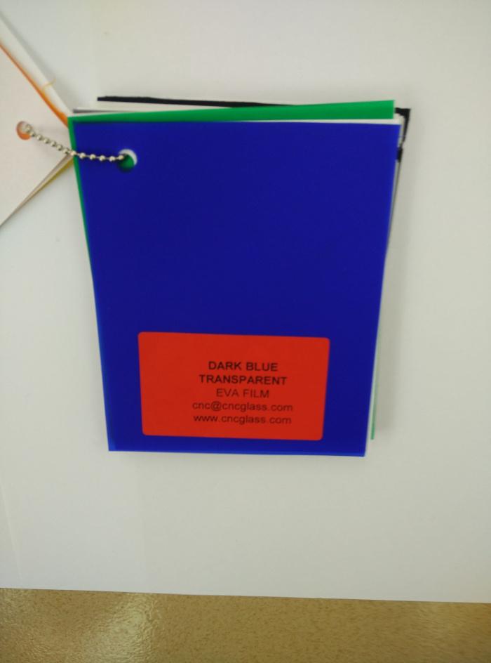 Dark Blue EVAVISION transparent EVA interlayer film for laminated safety glass (45)