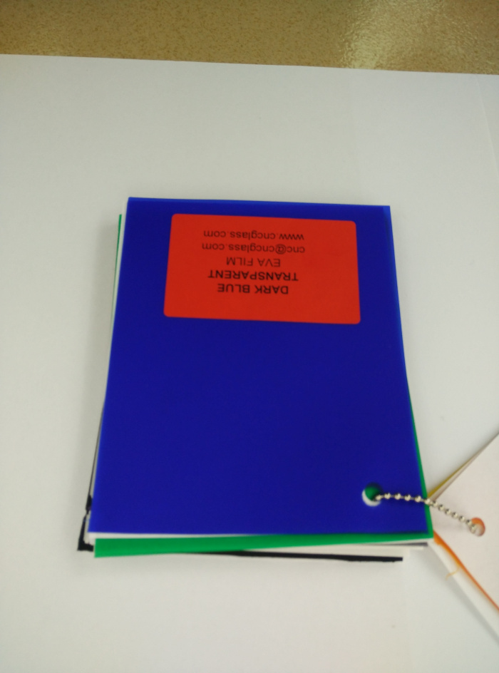 Dark Blue EVAVISION transparent EVA interlayer film for laminated safety glass (46)