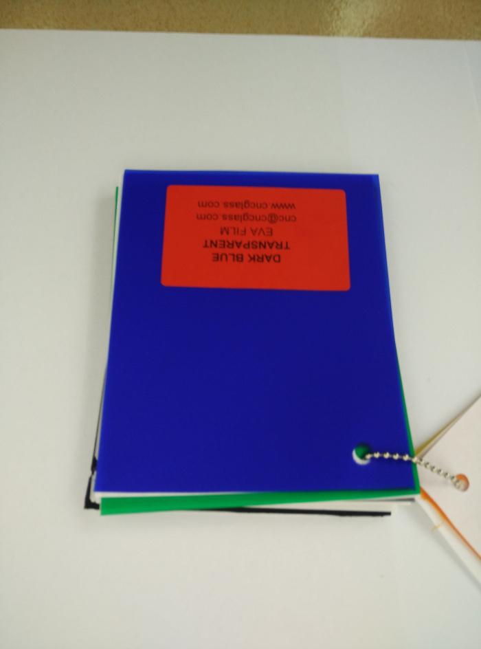Dark Blue EVAVISION transparent EVA interlayer film for laminated safety glass (47)