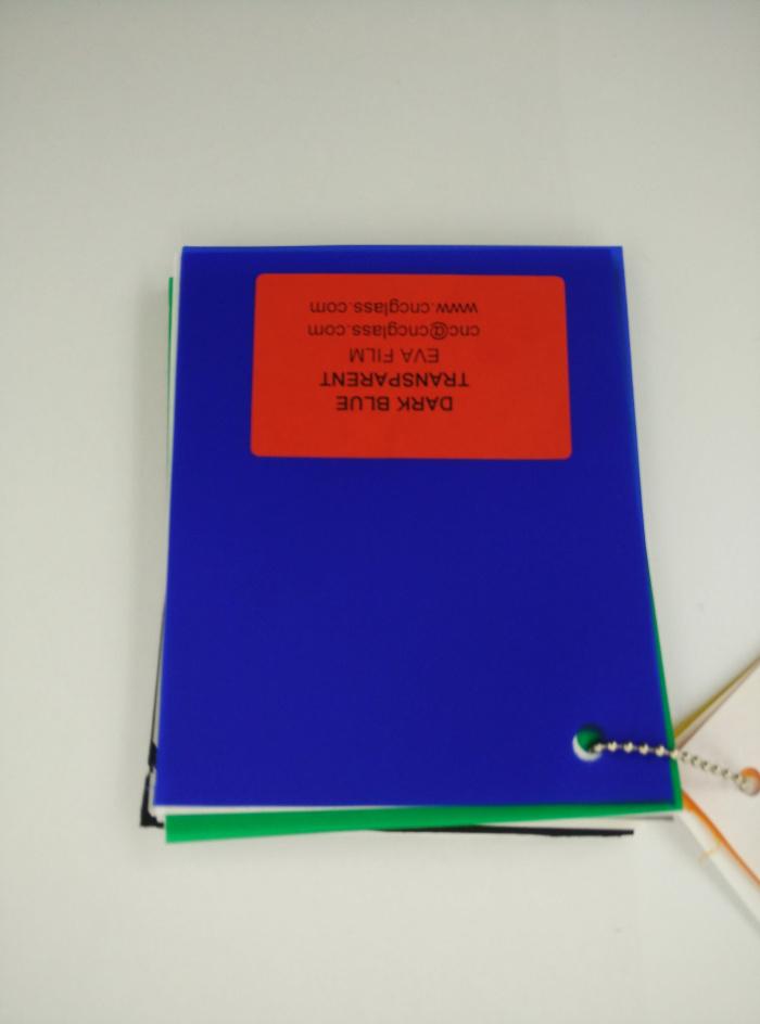 Dark Blue EVAVISION transparent EVA interlayer film for laminated safety glass (48)