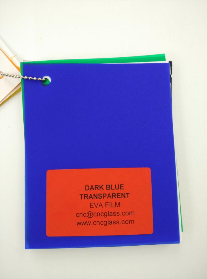 Dark Blue EVAVISION transparent EVA interlayer film for laminated safety glass (5)