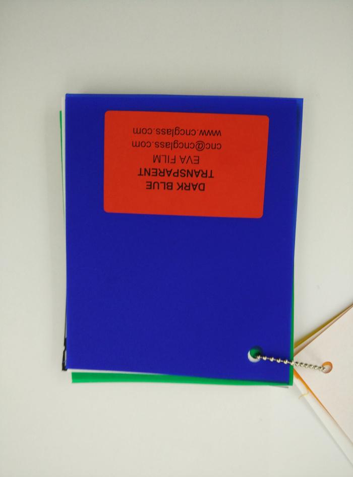 Dark Blue EVAVISION transparent EVA interlayer film for laminated safety glass (51)
