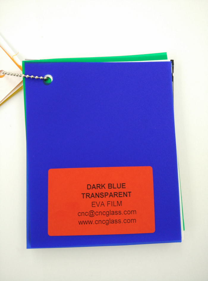 Dark Blue EVAVISION transparent EVA interlayer film for laminated safety glass (6)