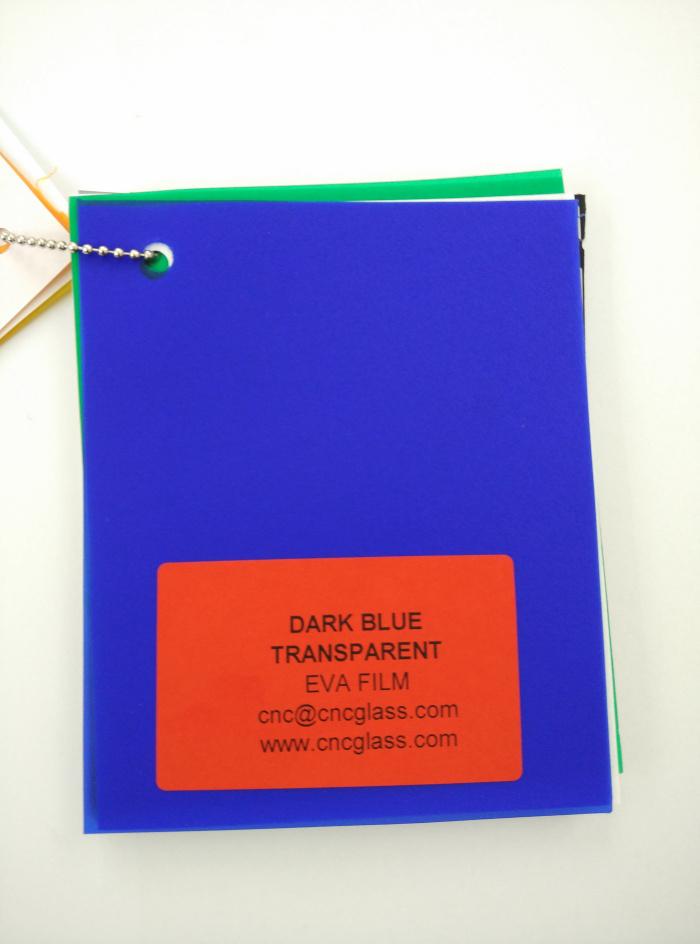 Dark Blue EVAVISION transparent EVA interlayer film for laminated safety glass (7)