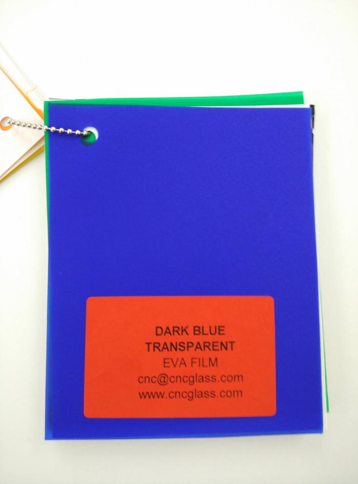 Dark Blue EVAVISION transparent EVA interlayer film for laminated safety glass (8)