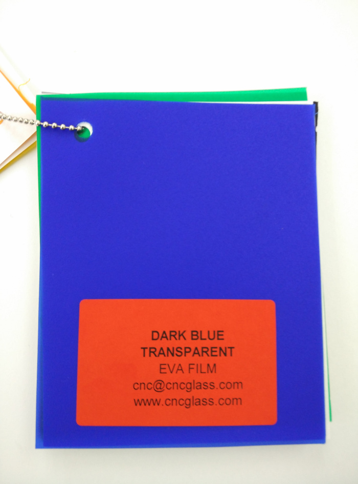 Dark Blue EVAVISION transparent EVA interlayer film for laminated safety glass (9)