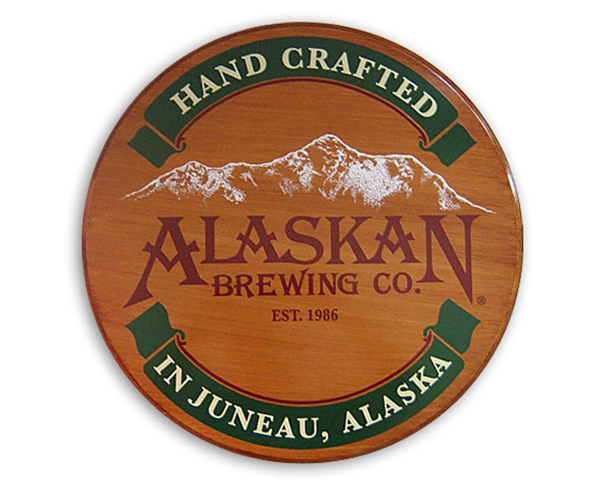 Alaskan Brewing Co Wood Sign