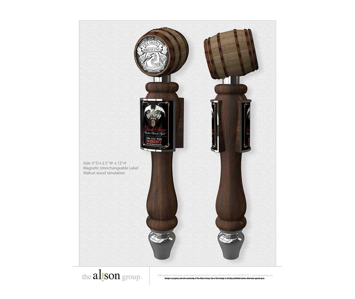 Fremont custom tap handle design