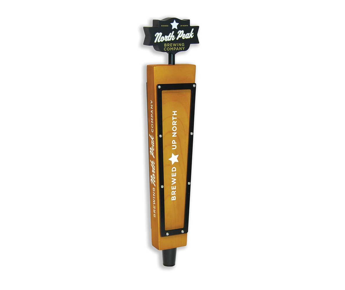North Peak Brewing custom resin tap handle