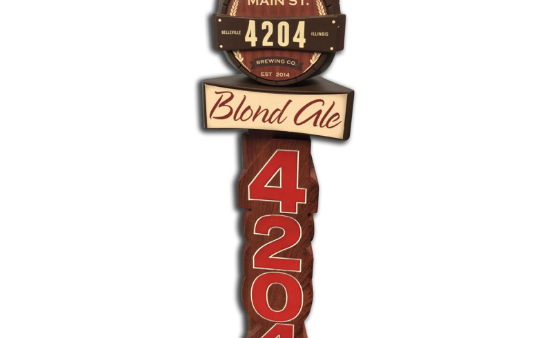 Main St Brewing Custom Resin Tap Handle