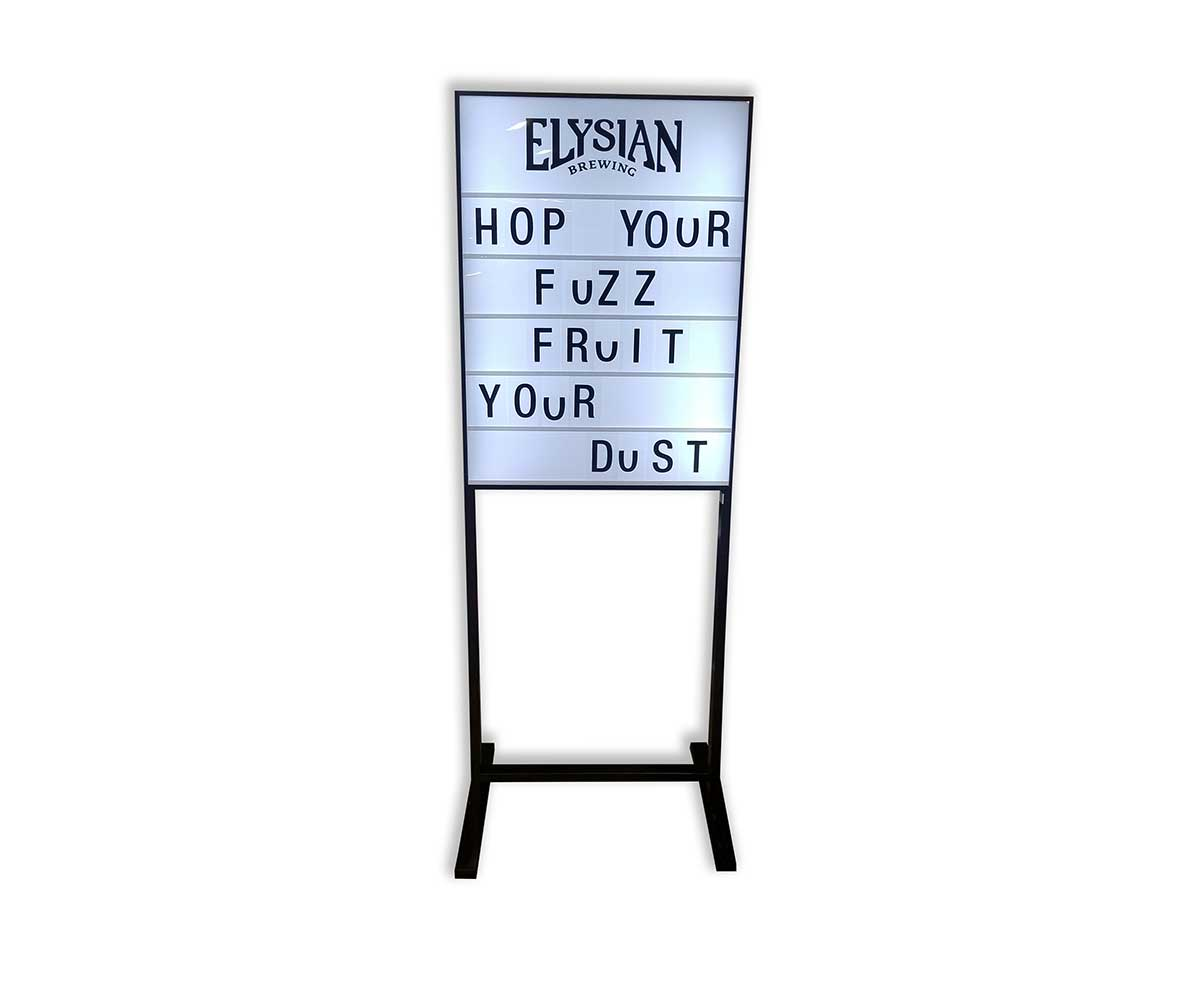 Elysian custom LED beer sign