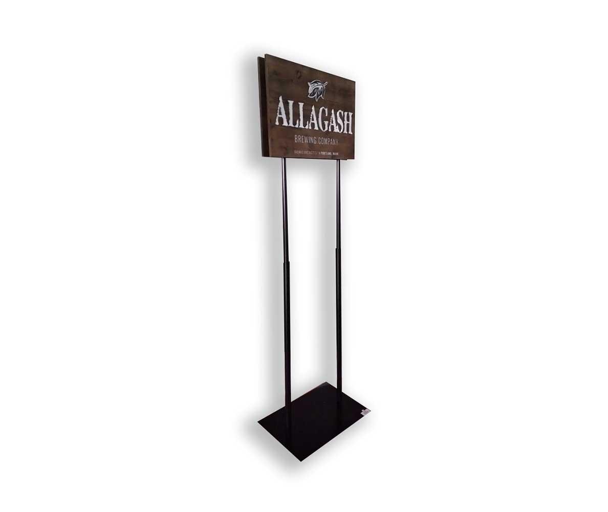 allagash custom wood beer sign