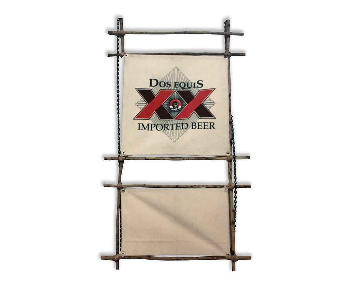 Dos Equis custom wood beer sign