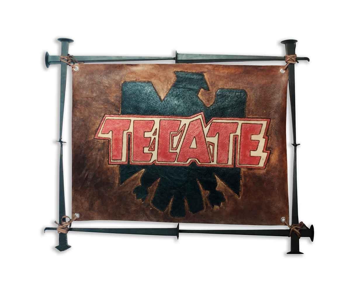 tecate custom beer sign