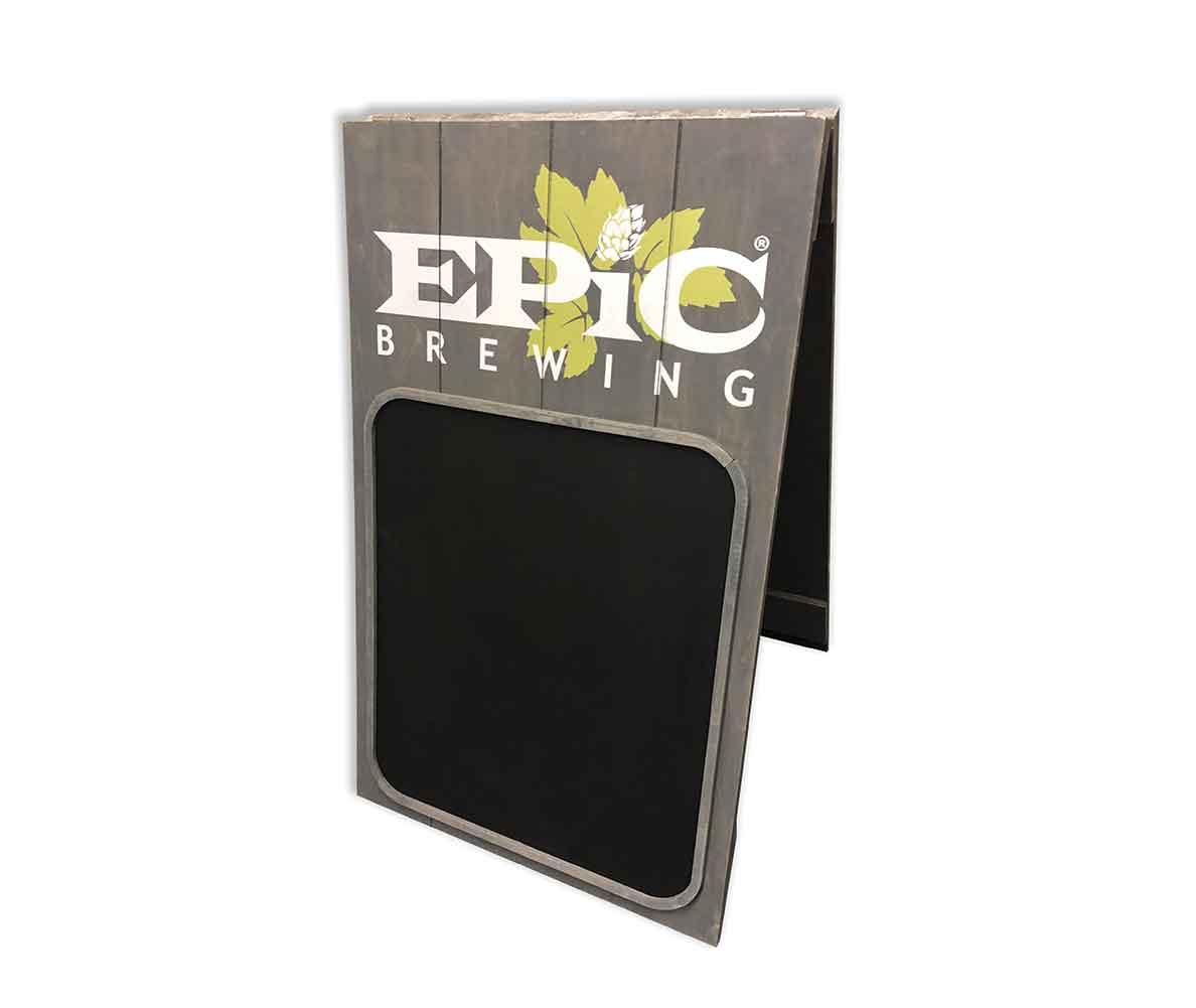 custom beer a-frame chalkboard sign