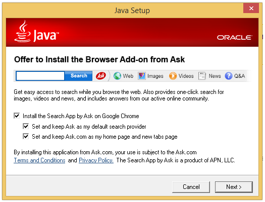 Hot PC Tips - Toolbars -Java Install