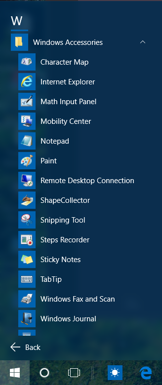 Hot PC Tips - Windows Accessories In Windows 10