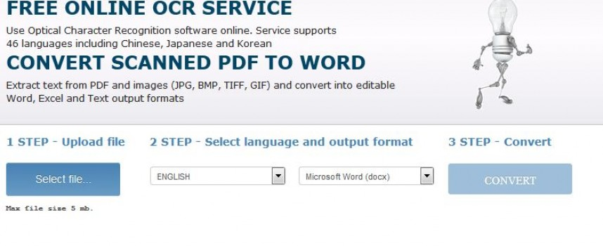 Use OCR to convert PDF to Text…