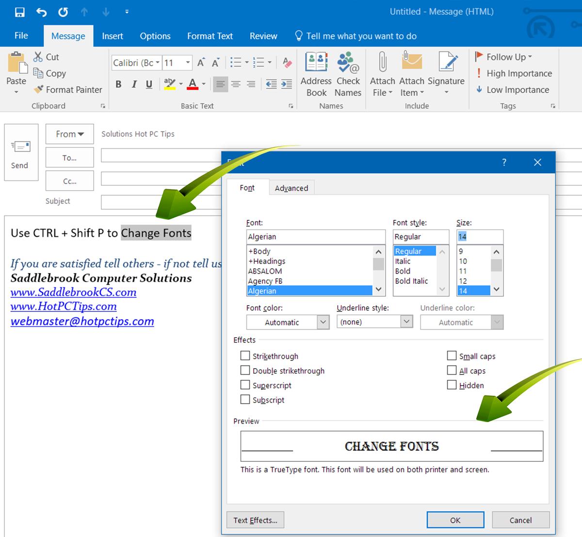 www.HotPCTips.com Outlook TIPS (6)