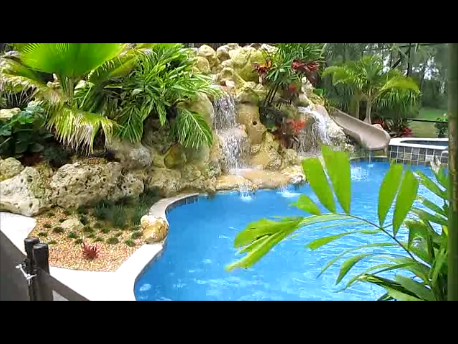 Resort Style residential waterfall & landscape package