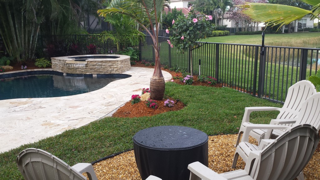 landscape for new swimming pool
