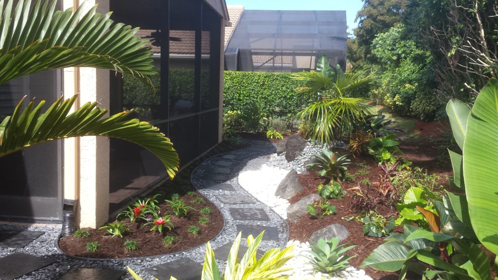 Rockscape garden with new landscape