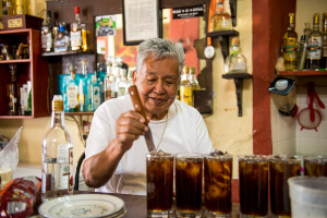 Cantina la capilla en Tequila Jalisco Mexico