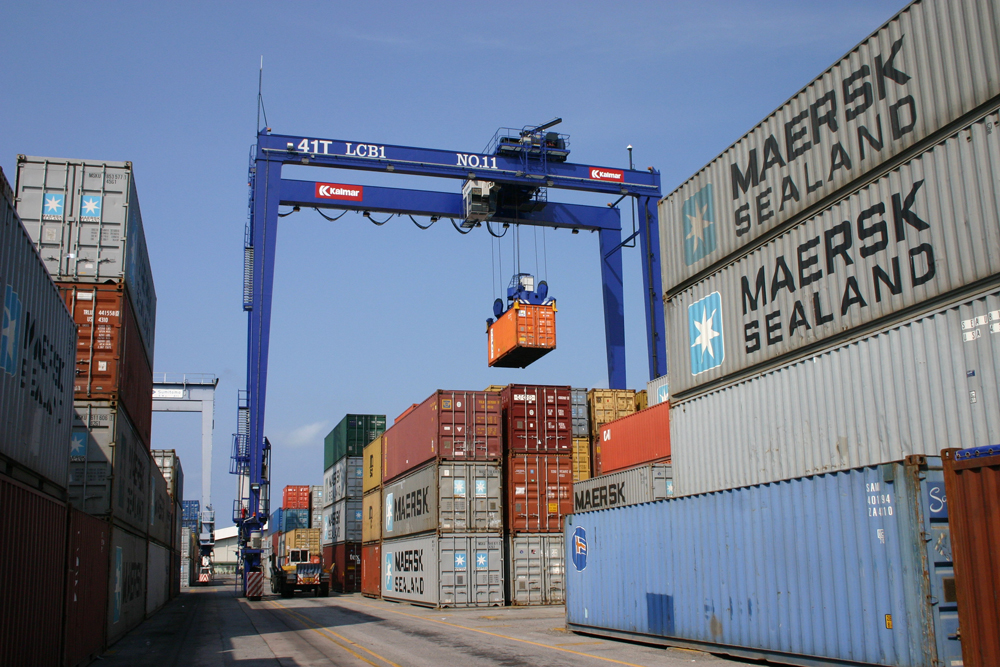 seaport container yard