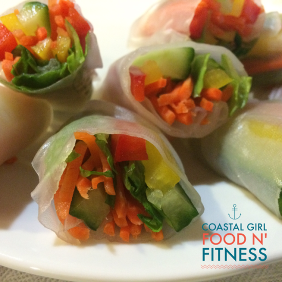 Spring Rolls my new favorite way to eat vegetables on the 21 Day Fix Meal Plan!