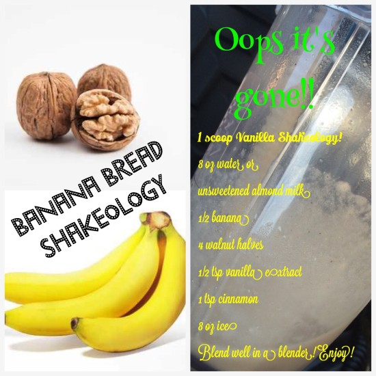 Banana Bread Shakeology!! The taste of banana bread without the calories.
