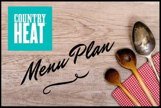 Country Heat Menu Plan! Clean, Healthy, Portion Controlled