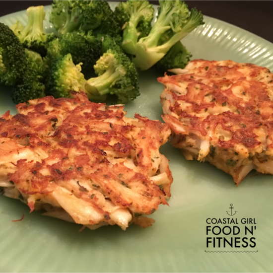 These crab cakes are quick and easy to make! Best of all they fit nicely into a clean eating healthy meal plan!