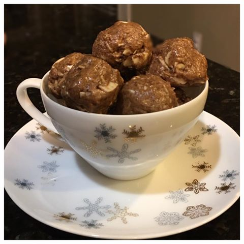 Almond Espresso Protein Balls! Sure to satisfy a craving for something sweet