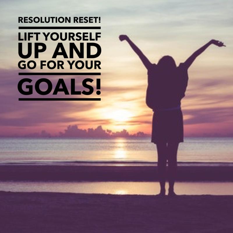 Resolution Reset: Don't give up because you faltered. Lift yourself up and move forward!