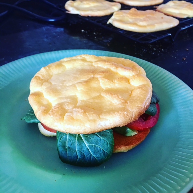 Cloud Bread, sandwich buns that are light and airy as well as gluten andcarb free!