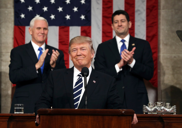 The Trumpmeister delivers an epic State of the Union address.