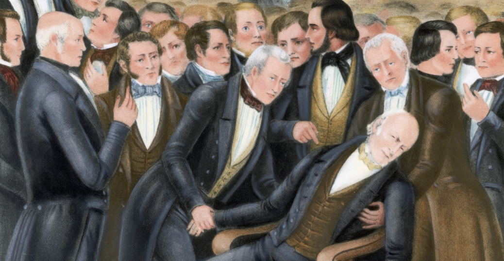 The death of John Quincy Adams on the U.S. House floor