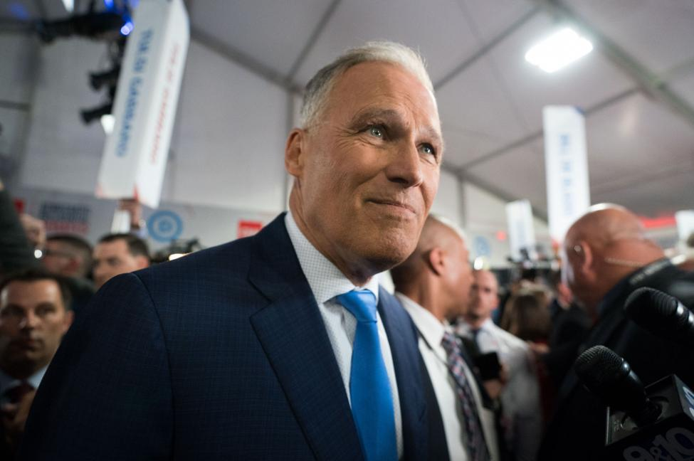 Jay Inslee's post debate bounce rolls into the gutter