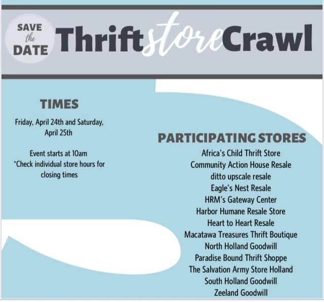 Thrift Store Crawl 2020 April 24 - 25