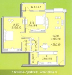 Devashri Garden 2 BHK Floor Plan Type 4