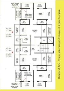 Devashri Royale_Build A & G Upper Ground, First, Second & Third Floor Plan