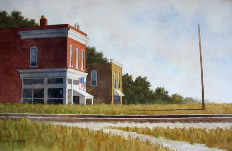 This very nice painting depicts the buildings located at Commonwealth and Greenwood.