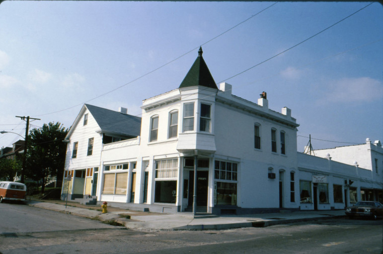 Until the Harper family sold the complex of buildings they were painted white.
