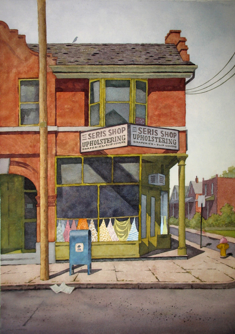 Stan also painted at least two versions of the Seris Shop a business many Maplewoodians will remember.