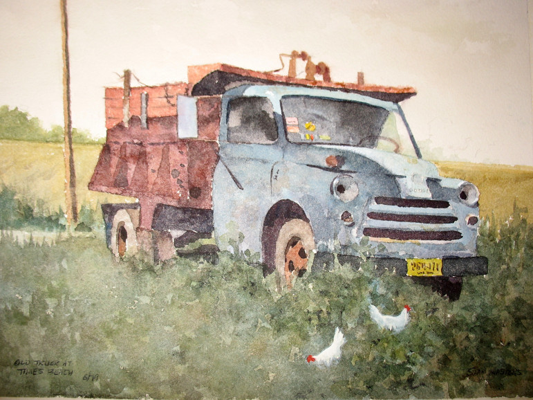 """""""Old truck at Times Beach.  One thing we can be certain of, the old truck and Times Beach are both gone."""