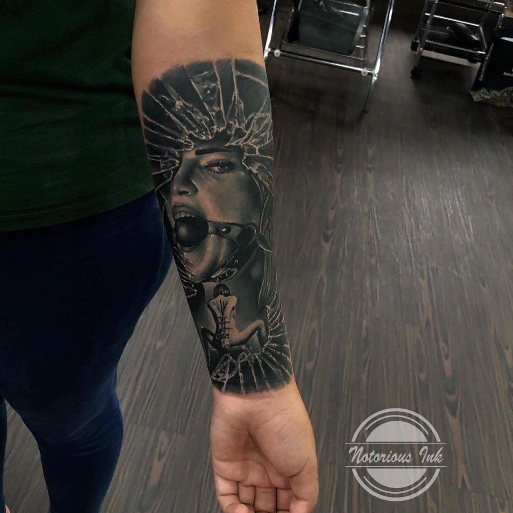 2nd place black and grey notorious ink