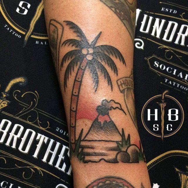 bali tattoo volcano by gunz tattoo