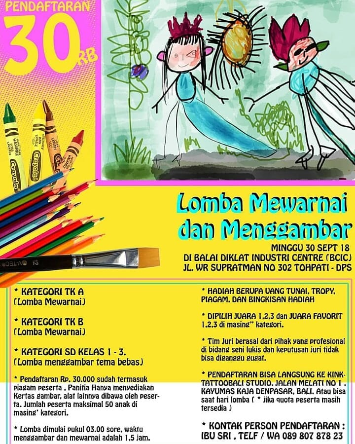 kids drawing contest bali